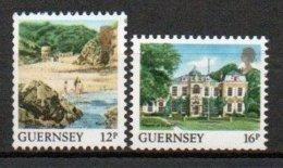 Guernesey - 1988 - Yvert N° 418A & 418B ** - Série Courante, Vues De L'Ile - Guernsey