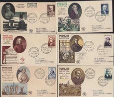 6 Enveloppes FDC 1er Premier Jour Série YT 945 à 950 Célébrités XII Au XX Siècles Dont Maréchal Lyautey 9 7 1953 - 1950-1959