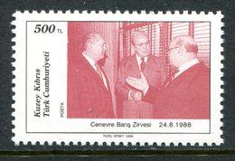 Cyprus - Turkish Cypriot Posts - 1989 Cyprus Peace Summit MNH (SG 253) - Cyprus (Turkey)