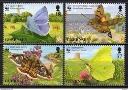 Guernesey - 1997 - Yvert N° 739 à 742 **  - WWF, Papillons, Protection De La Faune - Guernsey