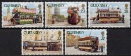 Guernesey - 1992 - Yvert N° 592 à 596 ** - Tramways - Guernsey