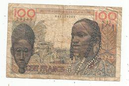 Billet , Institut D'émission De L'Afrique Occidentale Française Et Du TOGO , 100 , Cent Francs , 23-10-1956 , 2 Scans - Togo