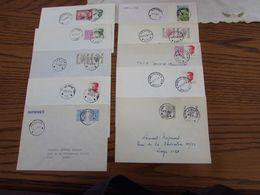 71 Cachets De RELAIS Ou HALTES De Types Différents (toutes Périodes) Sur Lettres, Cartes Ou Récépissés - Postmark Collection