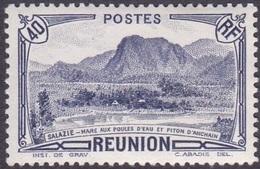 Réunion N° 134 ** Vue - Salazie, Mare Aux Poules D'eau Et Piton D'Auchain - 40c Outremer - Nuevos