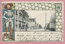 68 - GRUSS Aus ST-LUDWIG - SAINT-LOUIS - Carte Gaufrée - Poste - Saint Louis