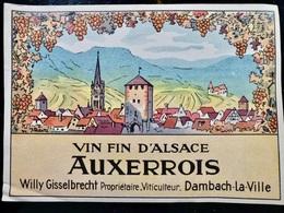 ETIQUETTE _ VIN Fin D'Alsace GEWURZTRAMINER _ Willy GISSELBRECHT à DAMBACH La VILLE - Gewurztraminer