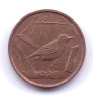 CAYMAN ISLANDS 1972: 1 Cent, KM 1 - Cayman Islands