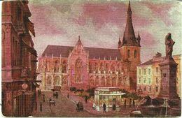 LIEGE - La Cathédrale - Reproduction D'aquarelle - N'a Pas Circulé - Liège