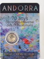 Andorre Pièce De 2 Euros Millésime 2018 Sous Emballage 70 Ans De La Déclaration Universelle Des Droits De L'homme - Andorra