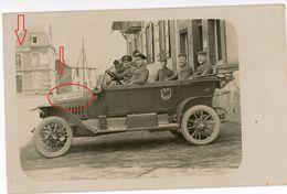 Kino Cinema Lichtspiele- Automobil Frankreich Belgien Soldats Allemande-guerre 14/18-WWI Carte Photo Allemande - 1914-18