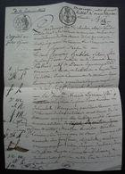 Tonneins 1823 (Lot-et-Garonne) Mariage De François Hublot, Sellier Et Marie Larrieu Seconde - Manuscrits