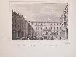 Stampa D'epoca - Torino - Piazza Delle Erbe - Secolo XIX - Estampas & Grabados