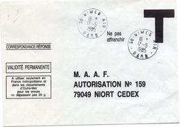 30 Nîmes Air Gard 1985 - Agence Postale Armée De L'air Sur Enveloppe T MAAF - Cachets Militaires A Partir De 1900 (hors Guerres)
