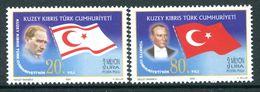 Cyprus - Turkish Cypriot Posts - 2003 Political Anniversaries Set MNH (SG 582-583) - Cyprus (Turkey)