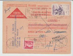 GERS: VIC-FEZENSAC En RE De 1957 / CPCR - Marcophilie (Lettres)