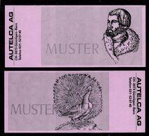 ATM Test Note AUTELCA Ca. 192 X 85 Mm, Pink Paper, RRRRR, UNC-, Sehr Alt - Svizzera