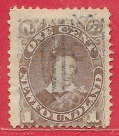 Terre-Neuve N°35a 1c Violet-gris 1880 O - 1865-1902