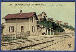 CPA RHONE (69) - CHARBONNIERES-LES-BAINS - LA GARE DES FLACHERES - Charbonniere Les Bains