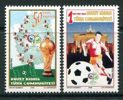 Cyprus - Turkish Cypriot Posts - 2006 Football World Cup, Germany Set MNH (SG 636-637) - Cyprus (Turkey)