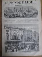 1873      PARIS LE NOUVEAU THEATRE DE LA PORTE SAINT MARTIN   16, Boulevard Saint-Martin  75010 - Vieux Papiers