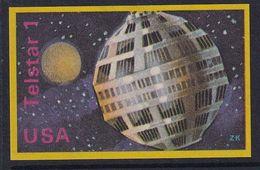 Space Weltraum Espace: Matchbox Labels ZK: Satellite Telstar 1 USA - Boites D'allumettes - Etiquettes