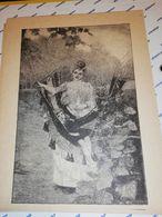 GRAVURE 19EME MERE ET SA FILLE DANS UN HAMAC CIRCA 1870 19 X 25 CM - Estampas & Grabados