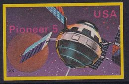 Space Weltraum Espace: Matchbox Labels ZK: Satellite Pioneer 5 USA - Boites D'allumettes - Etiquettes