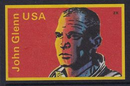 Space Weltraum Espace: Matchbox Labels ZK: Astronaut John Glenn, USA - Boites D'allumettes - Etiquettes