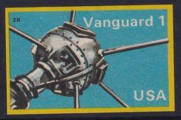 Space Weltraum Espace: Matchbox Labels ZK: Vanguard Satellite, USA - Boites D'allumettes - Etiquettes