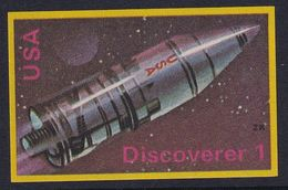 Space Weltraum Espace: Matchbox Labels ZK: Discoverer, USA - Boites D'allumettes - Etiquettes