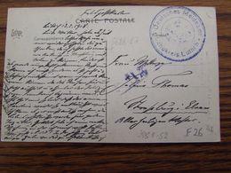 Carte Vue De Liège En Feldpost. Cachet Mauve DEUTSCHES MELDEAMT LANDKREIS LUTTICH En 1918 - WW I