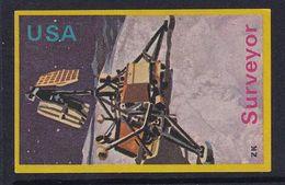 Space Weltraum Espace: Matchbox Labels ZK: Surveyor Mars Landing, USA - Boites D'allumettes - Etiquettes