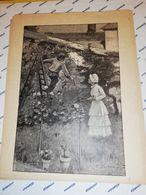 GRAVURE 19EME CUEUILLETTE DANS LE VERGER JARDIN CIRCA 1870 19 X 25 CM - Estampas & Grabados