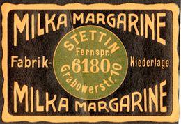 """Stettin Szczecin Pommern """" MILKA Margarine Grabowerstr.10 """" Vignette Cinderella Reklamemarke - Vignetten (Erinnophilie)"""