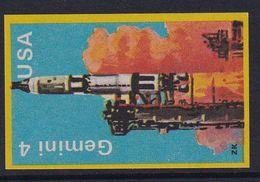 Space Weltraum Espace: Matchbox Labels ZK: Gemini 4, USA - Boites D'allumettes - Etiquettes