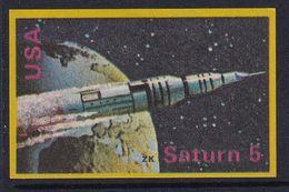 Space Weltraum Espace: Matchbox Labels ZK: Saturn 5 Rocket, USA - Matchbox Labels