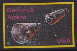 Space Weltraum Espace: Matchbox Labels ZK: Gemini 8, Agena, USA - Matchbox Labels