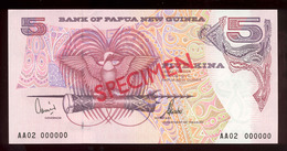 Papua New Guinea 2002 5 Kina Specimen UNC - Papoea-Nieuw-Guinea