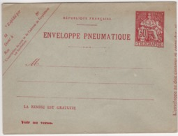 Enveloppe Pneumatique - 30c Champlain-voir Dos (ttb ) - Postal Stamped Stationery