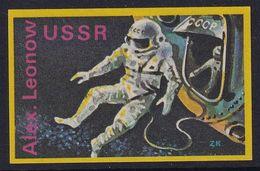 Space Weltraum Espace: Matchbox Labels ZK: Cosmonaut Alexei Leonov First Space Walk ; CCCP Russia - Matchbox Labels
