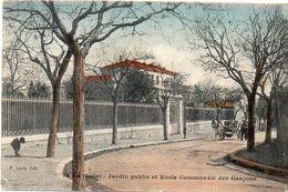 LA CIOTAT - Jardin Public  Et Ecole Communale Des Garçons - Attelage - Cachet : Les Arcs à Marseille  (1733 ASO) - La Ciotat