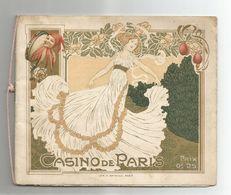 Rare Superbe Programme CASINO DE PARIS Couverture Art Nouveau THEATRE Cabaret - Programme