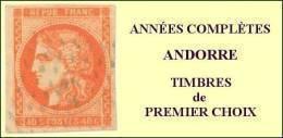 Andorre, Année Complète 1972, N° 217 à N° 225** Y Et T - Años Completos