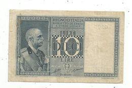Billet , Italie , Regno D'Italia , Biglietto Di Stato ,10 , Dieci Lire,1935 , 2 Scans - Italia – 10 Lire