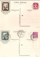 Carte Semeuse Et Paix - Pexip Paris 1937 - Avec Mention Grand Palais + Hexagonal Congrès Philatélique - Scans RV - Cartes Postales Types Et TSC (avant 1995)