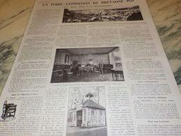 ANCIENNE PUBLICITE FOIRE EXPOSITION DE  BRETAGNE 1925 - Altri