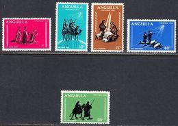 Anguilla 1968 Christmas, Mint No Hinge, Sc# ,SG 216-220 - Anguilla (1968-...)