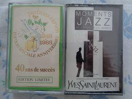 2 CASSETTES AUDIO MUSIQUE  CARVEN   ED.limitée - Y ST LAURENT  JAZZ - Materiale Di Profumeria