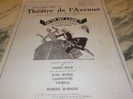 ANCIENNE PUBLICITE TOUT PARIS DEFILE AU THEATRE DE L AVENUE THEATRE   1925 - Altri