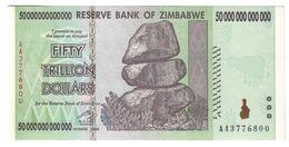 Zimbabwe 50 Trillions Dollars 2008 AUNC - Zimbabwe